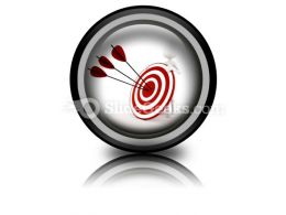 Man Behind Target PowerPoint Icon Cc  Presentation Themes and Graphics Slide01