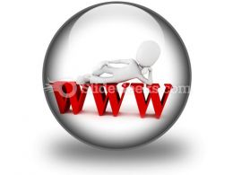Man On Www PowerPoint Icon C