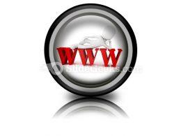 Man On Www PowerPoint Icon Cc