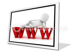 Man On Www PowerPoint Icon F