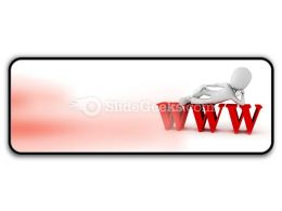 Man On Www PowerPoint Icon R