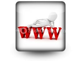 Man On Www PowerPoint Icon S