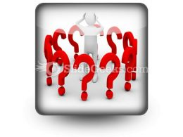 Man With Question PowerPoint Icon S