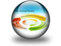 Marketing Process Chart PowerPoint Icon C