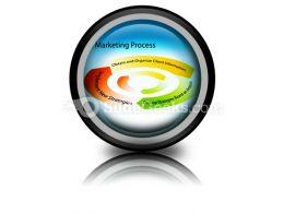 Marketing Process Chart PowerPoint Icon Cc