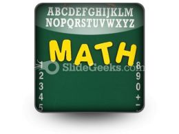 Mathematics PowerPoint Icon S