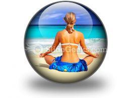 Meditating On Sea PowerPoint Icon C