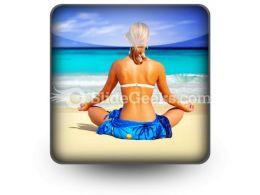 Meditating On Sea PowerPoint Icon S