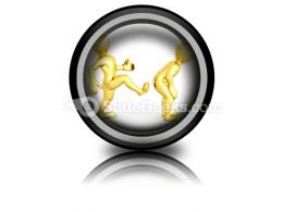 Motivational Kick Up The Ass Business PowerPoint Icon Cc  Presentation Themes and Graphics Slide01