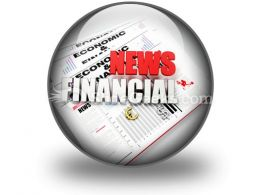 News Financial PowerPoint Icon C