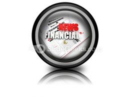 News Financial PowerPoint Icon Cc