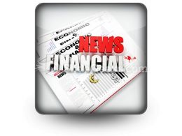 News Financial PowerPoint Icon S