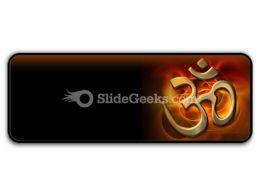 Om Religion PowerPoint Icon R