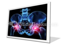 Pain In Hips PowerPoint Icon F