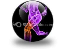 Pain In Knee PowerPoint Icon C