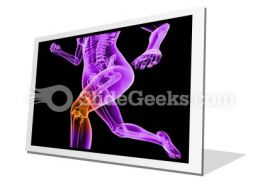 Pain In Knee PowerPoint Icon F