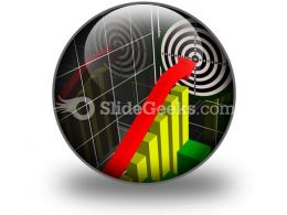 Performance Chart PowerPoint Icon C