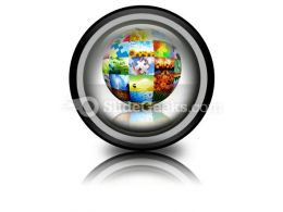 Picture Photo Gallery Ball PowerPoint Icon Cc