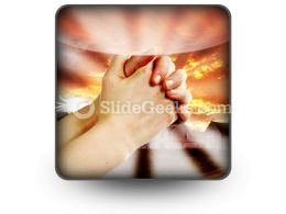 Prayer Warrior PowerPoint Icon S