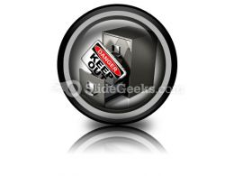 Private Database Security PowerPoint Icon Cc