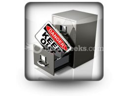 Private Database Security PowerPoint Icon S