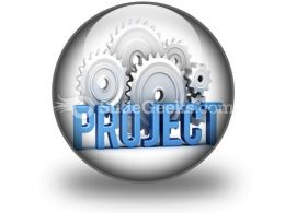 Project With Cogs PowerPoint Icon C  Presentation Themes and Graphics Slide01