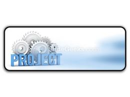 Project With Cogs PowerPoint Icon R