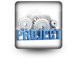 Project With Cogs PowerPoint Icon S  Presentation Themes and Graphics Slide01