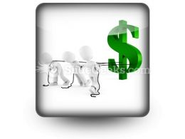 Pulling Dollar Symbol PowerPoint Icon S