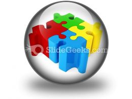 Puzzle Connected PowerPoint Icon C