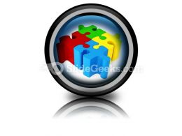Puzzle ConnectedPowerPoint Icon Cc