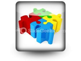 Puzzle ConnectedPowerPoint Icon S