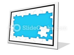 Puzzle Pieces Frame PowerPoint Icon F