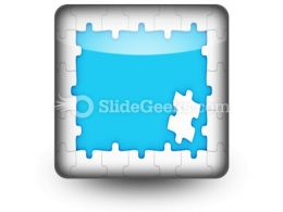 Puzzle Pieces Frame PowerPoint Icon S