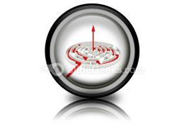 Red Path Across Round Labyrinth PowerPoint Icon Cc