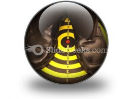 Right On Target PowerPoint Icon C
