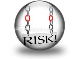 Risk Hanging PowerPoint Icon C