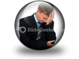 Sad Business Man PowerPoint Icon C