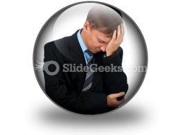 Sad Business Man PowerPoint Icon C