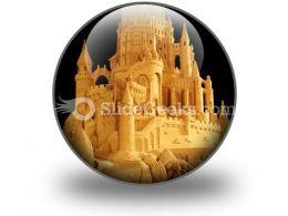 Sand Castle PowerPoint Icon C