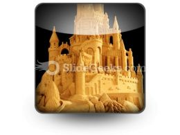Sand Castle PowerPoint Icon S  Presentation Themes and Graphics Slide01