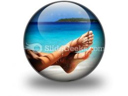 Sandy Feet PowerPoint Icon C