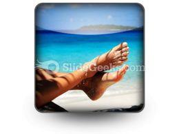 Sandy Feet PowerPoint Icon S