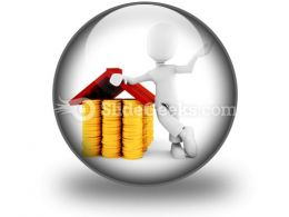 Saving Money For Home PowerPoint Icon C