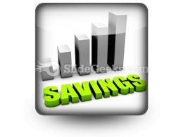 Savings PowerPoint Icon S