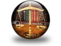 Scales Of Justice PowerPoint Icon C