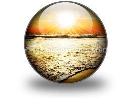 Sea Sunset PowerPoint Icon C