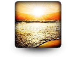 Sea Sunset PowerPoint Icon S