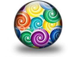 Seamless Vivid Swirl Pattern PowerPoint Icon C
