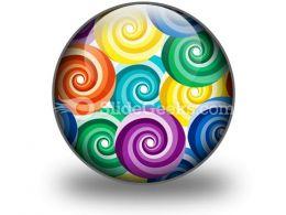Seamless Vivid Swirl Pattern PowerPoint Icon C